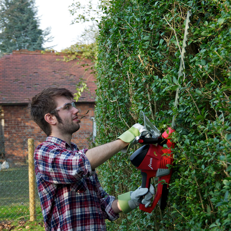 mantis cordless hedge trimmer