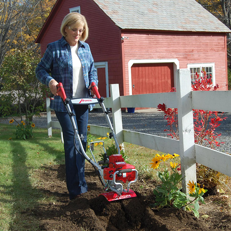 Mantis 2-Cycle Deluxe Tiller with FastStart