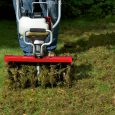 Lawn Aerator Attachment 4265 slicing lawn