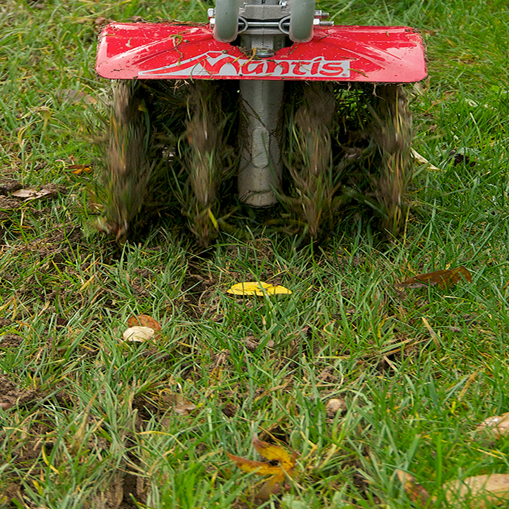 Lawn Aerator Attachment 4222 aerating lawn