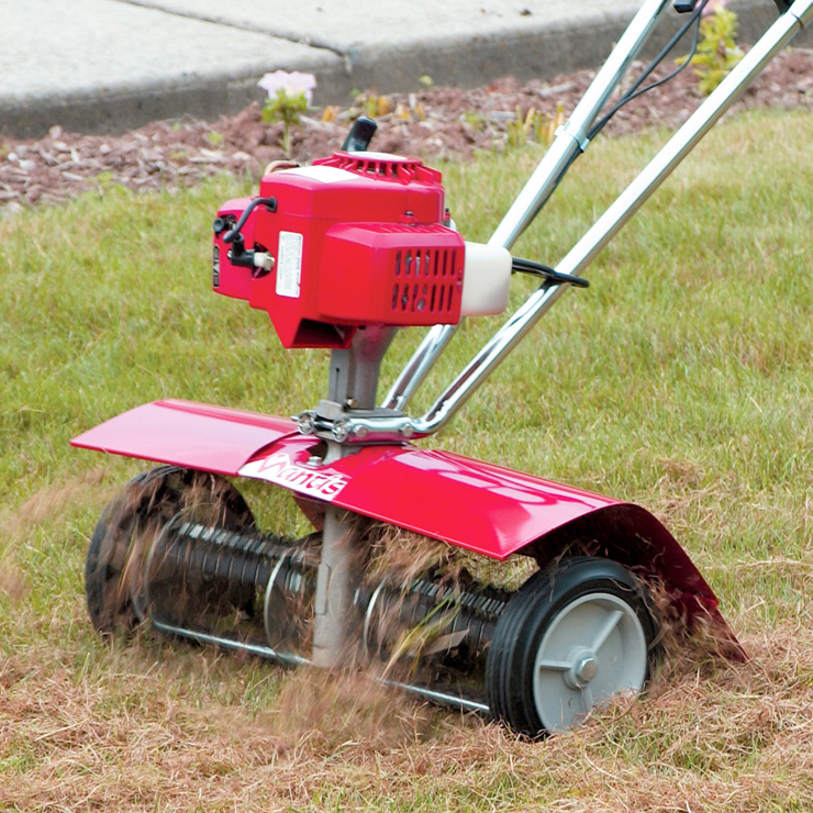 Mantis Lawn Dethatcher Attachment 5222 clearing thatch