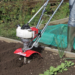 Mantis rototiller for raised beds