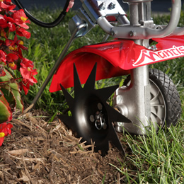 Mantis rototillers attachments for yard and garden care