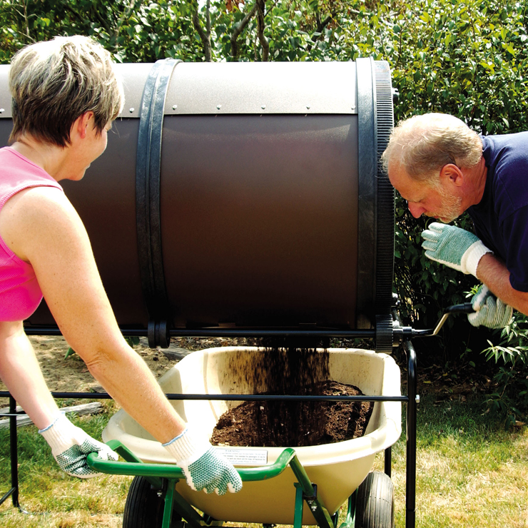 Mantis ComposT-Twin Sifter Screen 201107 in use