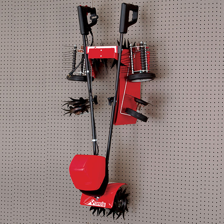 Mantis Tiller Storage Rack 811005 with Electric Tiller