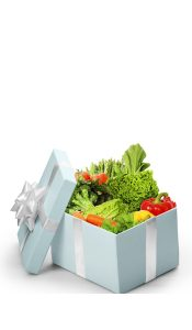 gift box of vegetables for health