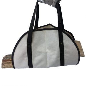 Canvas Log Carrier 811045 with logs back