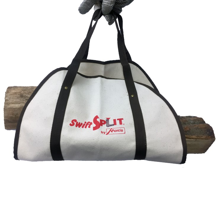 Canvas Log Carrier 811045 with logs front