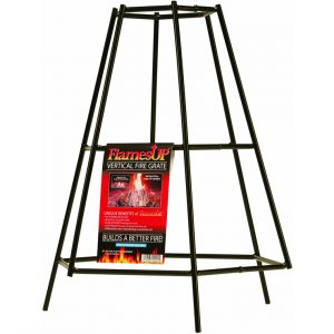 FlamesUp Fire Grate 811066 holds 6 logs upright