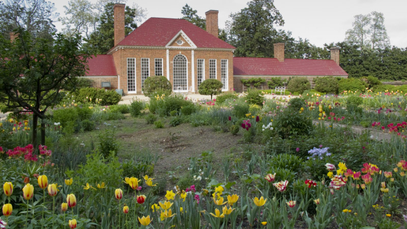 Mt Vernon view of upper garden