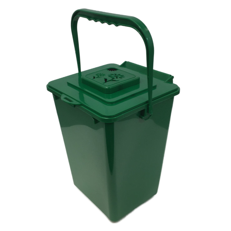 Composting Kitchentop Container 2.2 gal CTKC1000 handle up