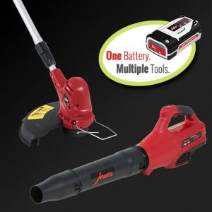 Cordless tool with one battery