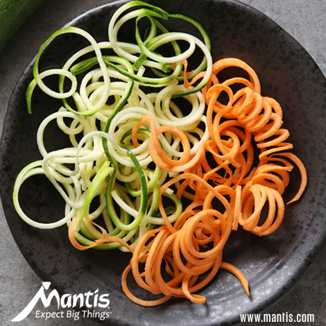 Carrot and Zucchini Noodles With Fresh Tomatoes