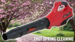 Mantis battery powered cordless blower spring cleaning