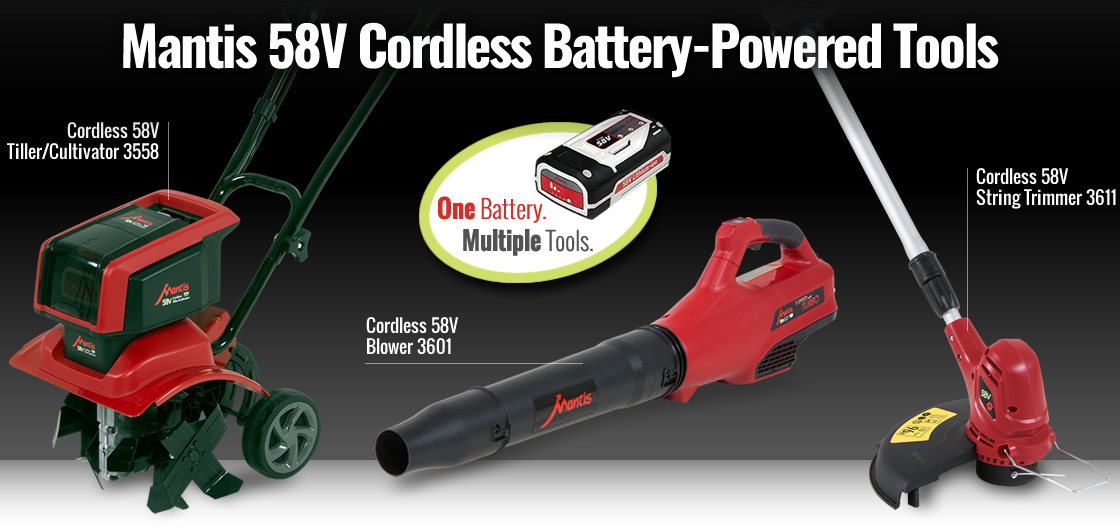 Mantis 58V Cordless Battery Powered Tools