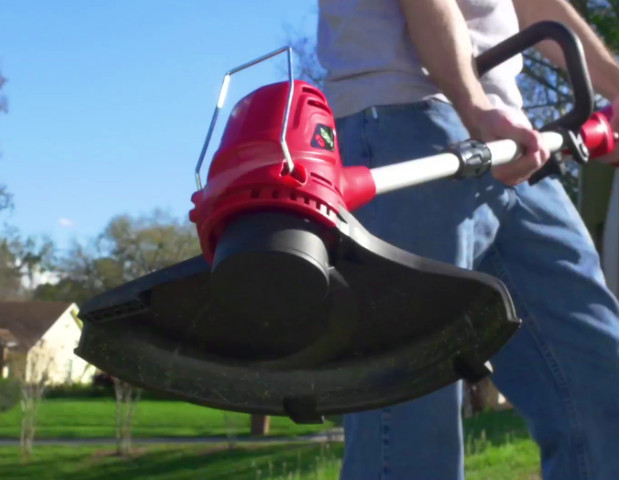 cordless string trimmer closeup