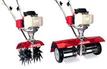 Mantis Lawn Aerator and Lawn Dethatcher Attachments